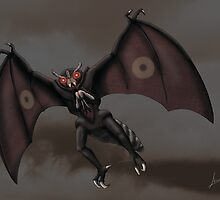 Mothman by sloeilustracion