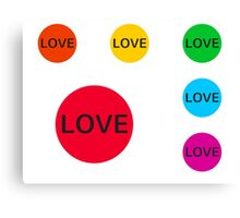 Love Love Love Canvas Print