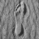 Footprint in the Sand by Jeff Johannsen