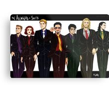 Avengers In Suits Metal Print