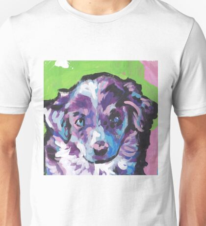 Australian shepherd Aussie Bright colorful Pop Art Unisex T-Shirt