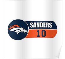 Broncos Sanders Poster