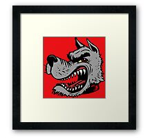 Angry Wolf (Red Collar) Framed Print