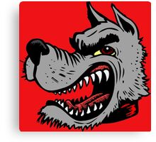 Angry Wolf (Red Collar) Canvas Print