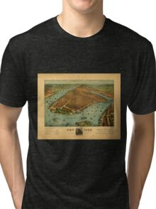 Panoramic Maps New York1 Tri-blend T-Shirt