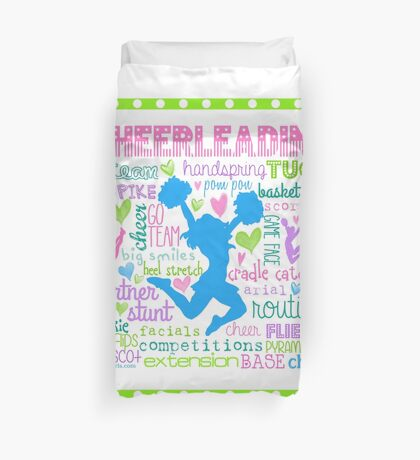 Pastel Cheerleading Typography Duvet Cover