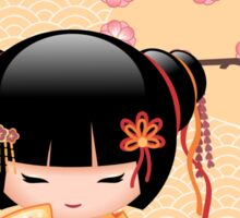 Japanese Ume Kokeshi Doll Sticker