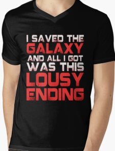ALL I GOT WAS THIS LOUSY ENDING - Mass Effect ending rage shirt Mens V-Neck T-Shirt