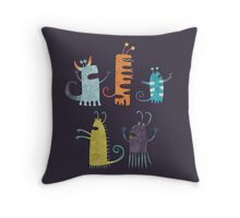Secretly Vegetarian Monsters Throw Pillow