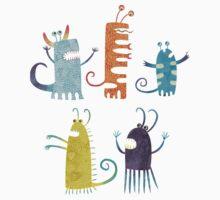 Secretly Vegetarian Monsters Kids Clothes