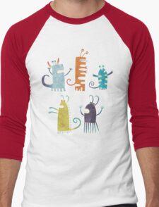 Secretly Vegetarian Monsters Men's Baseball ¾ T-Shirt
