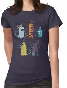 Secretly Vegetarian Monsters Womens Fitted T-Shirt