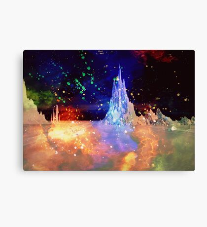 Retro Sci-Fi Dream Canvas Print
