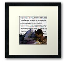 Ten Things I Hate About You Kat and Pat Framed Print