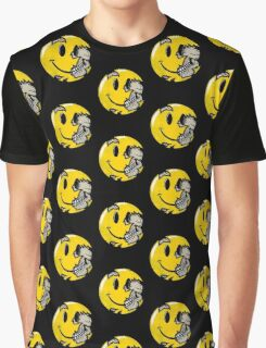 Smiley face skull Graphic T-Shirt