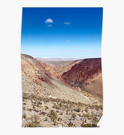 Nacimiento Gorge - Atacama Desert - Chile Poster
