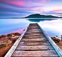 "Queens Lake Sunset - ""The Pier"" by Daniel Akinin"
