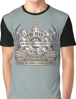 Sheriff of Crazy Town Graphic T-Shirt