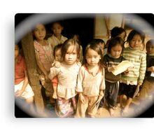 Beautiful children ,Laos  By Faye Masters Canvas Print
