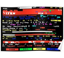 Glitched Teletext Page Poster