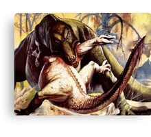 Prehistoric fight  Canvas Print