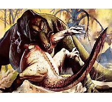 Prehistoric fight  Photographic Print