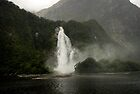 Lady Bowen Falls, Milford Sound by Michael Treloar