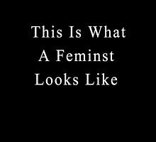 This Is What A Feminist Looks Like by thesaratonin