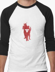 Anonymous 2012 silhouette 3 Men's Baseball ¾ T-Shirt