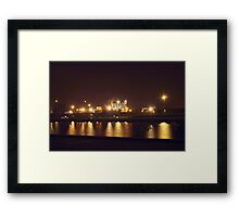 Chesterfield Canal Low Light Framed Print
