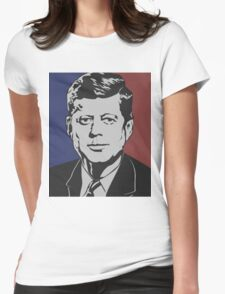 JFK Vintage Womens Fitted T-Shirt