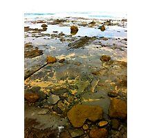 Beach. Rocks. Glassy. Photographic Print