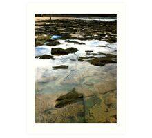 Water. Rocks. Sand. Glass.  Art Print