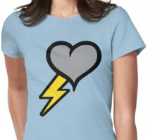 Thunder Heart (weather symbol) Womens Fitted T-Shirt