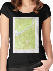 USGS Topo Map Washington State WA Boundary 240176 1952 24000 Women's Fitted Scoop T-Shirt