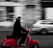 Red Vespa by Lidia D'Opera