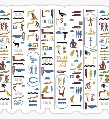 Pharaoh Hieroglyphs Sticker
