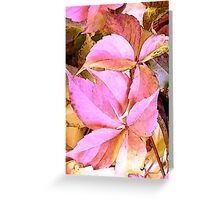 Garden leaves Greeting Card