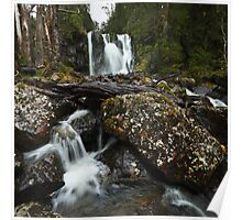 First tier of Hidden Falls - Cradle Mountain Poster