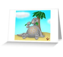 Chubby Dinosaur Greeting Card