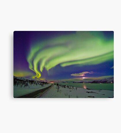 Auroras are everywere Canvas Print