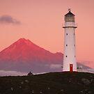 Cape Egmont Lighthouse - Taranaki Coast  New Zealand by Mark Shean
