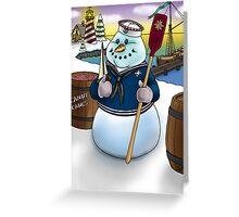Sailor Snowman Greeting Card