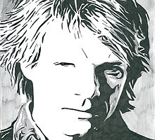 Jon Bon Jovi Comic Book Sketch by chrisjh2210