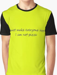 I Am Not Pizza Graphic T-Shirt