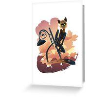 Cat Noir Greeting Card