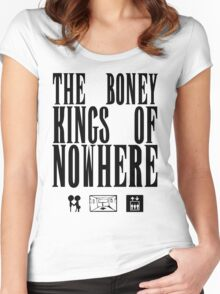 The Boney Kings of Nowhere -Black Women's Fitted Scoop T-Shirt