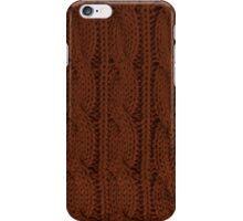 Brown Knit iPhone Case/Skin