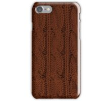 Brown Knit iPhone Case/Skin