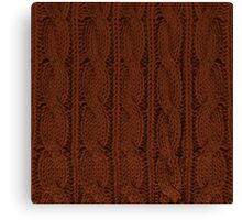 Brown Knit Canvas Print